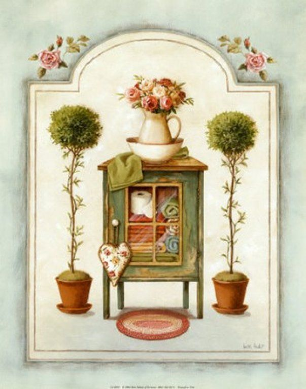 Laminas Baño Vintage:Washstand (Lisa Audit)Cross Stitch, Vintage, For, Learn Crafts, Image