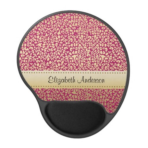 A Trendy Personalized Pink and Gold Glam Leopard Gel Mousepad. Perfect gift to decorate an office for women. $13.95 http://www.zazzle.com/trendy_personalized_pink_and_gold_glam_leopard-159244527516726200?rf=238835258815790439 #personalizedgifts #giftsforher #animalprint