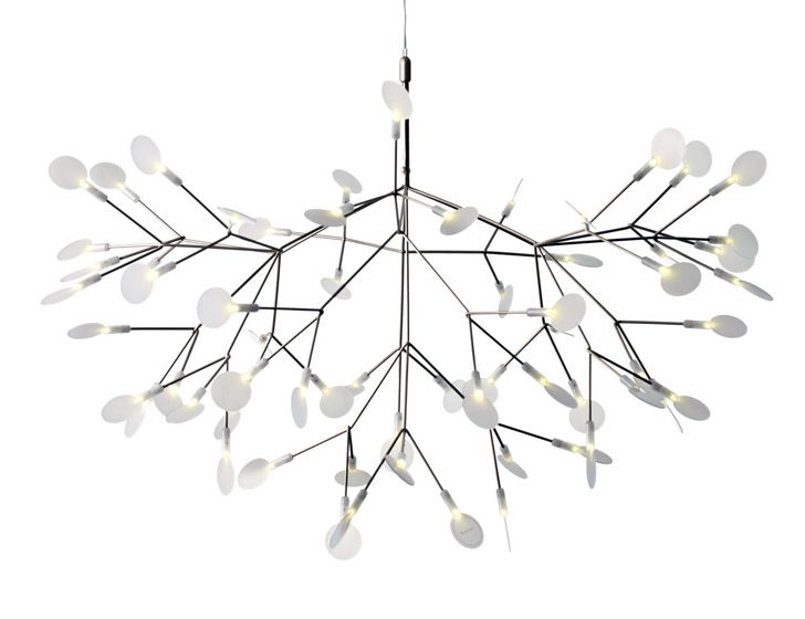 Moooi's Brilliant Heracleum II Chandelier Blossoms with LED Leaves