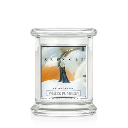 White Pumpkin świeca zapachowa Kringle Candle  Biała Dynia słoik 8,5oz 240g