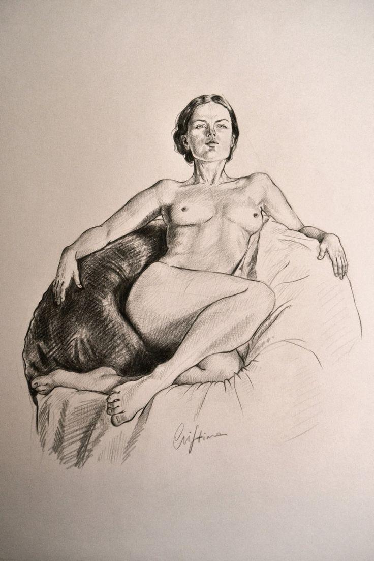 Study of a nude, Cristina Forte on ArtStation at https://www.artstation.com/artwork/study-of-a-nude