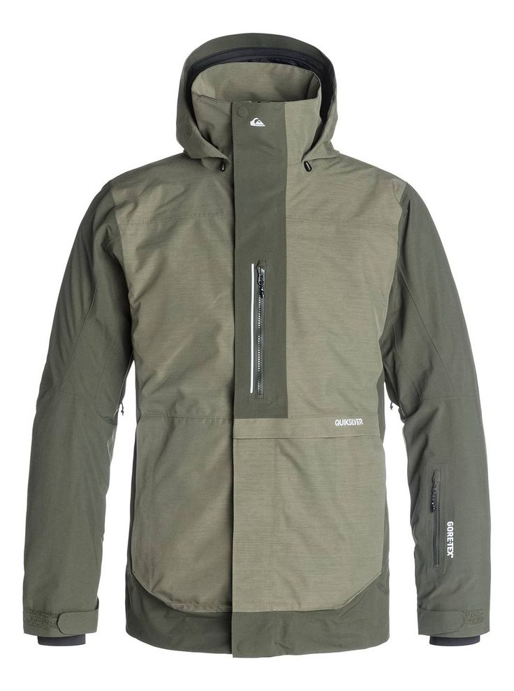 When it's a warmer bluebird day, the  Quiksilver Travis Rice Exhibition 2L Gore-Tex Snow jacket beats any other jacket. Its breathability will allow your body to lose heat from the inside. The jacket's tailored fit gives you urban styling while out riding. Available at Quiksilver in the Village.