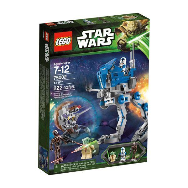 Lego Star Wars - AT-RT;  Yoda  patrulla junto al soldado clon 501 en su poderoso AT-RT cuando divisa al capitán de los droides comando y el droide francotirador. Usa el cañón láser giratorio del AT-RT para atacar a los droide. Recrea tus escenas favoritas de la serie de televisión Star Wars: The Clone Wars Incluye 3 minifiguras con diferentes armas: Yoda, soldado clon 501 y capitán de los droides comando... En  http://www.opirata.com/lego-star-wars-atrt-p-26524.html