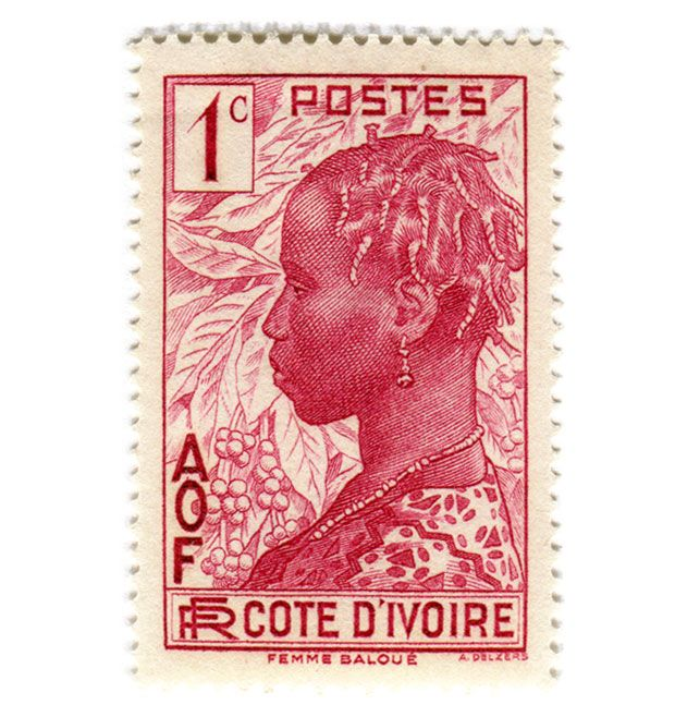 Côte d'Ivoire - postage stamp, ca. 1936