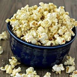 Italian Popcorn with Parmesan | A quick, savory snack that is perfect for movie night.