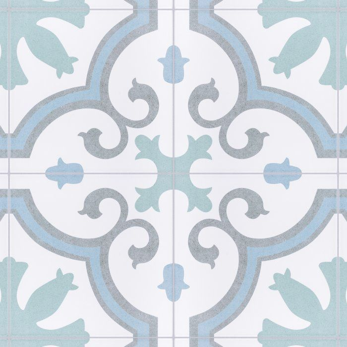 Matteo 10 X 10 Porcelain Spanish Wall Floor Tile In 2020 Aqua Tiles Flooring Tile Floor
