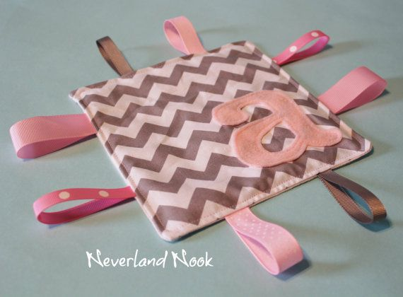 Personalized Crinkle Ribbon Sensory Toy - Crinkle Chevron Blanket - Crinkle Toy - Sensory Baby Toy - Riley Blake Chevron Fabric on Etsy, $10.25 Hmm may have to make some of these.