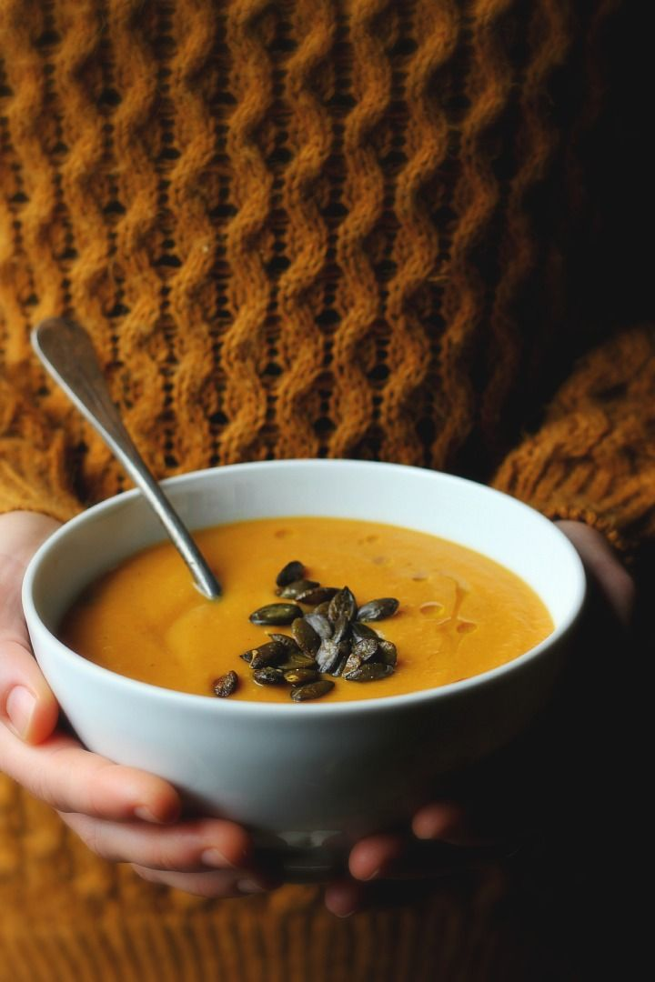 Roasted Carrot Soup with Parsnips, Apples + Gingery ...