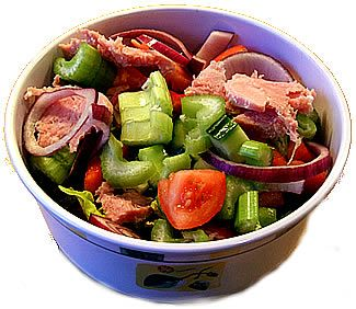 Ham salad packed lunch recipe suitable for food combining