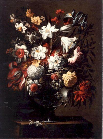 Jarrón de flores 6, óleo de Juan De Arellano (1701-1776, Spain)