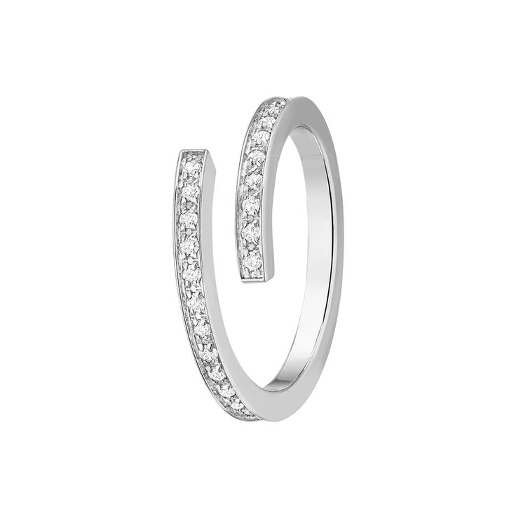 Plukka - Spirale Small Ring (White Diamond)