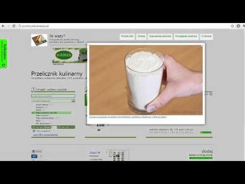 Przelicznik Kuchenny - Ponad 1000 produktów spożywczych do przeliczania, wszystkie ze zdjęciami