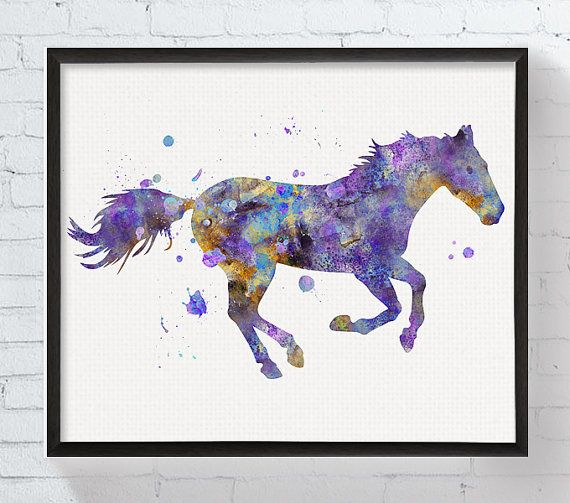 Hey, I found this really awesome Etsy listing at https://www.etsy.com/listing/248053444/watercolor-horse-horse-art-horse-print