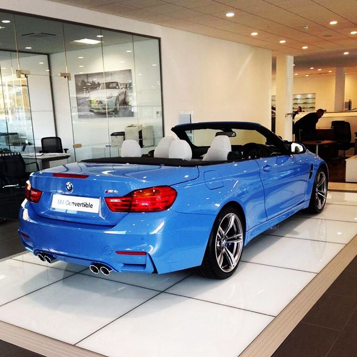 blue convertible bmw m4 - photo #9