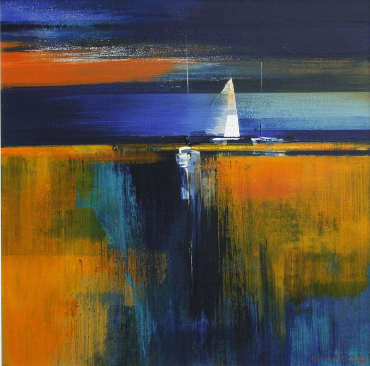 """Into the blue"" by Derric van Rensburg - oil on canvas"