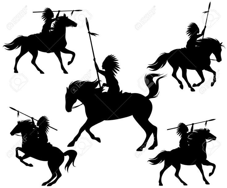 indian warrior on horse silhouette - Google Search ...