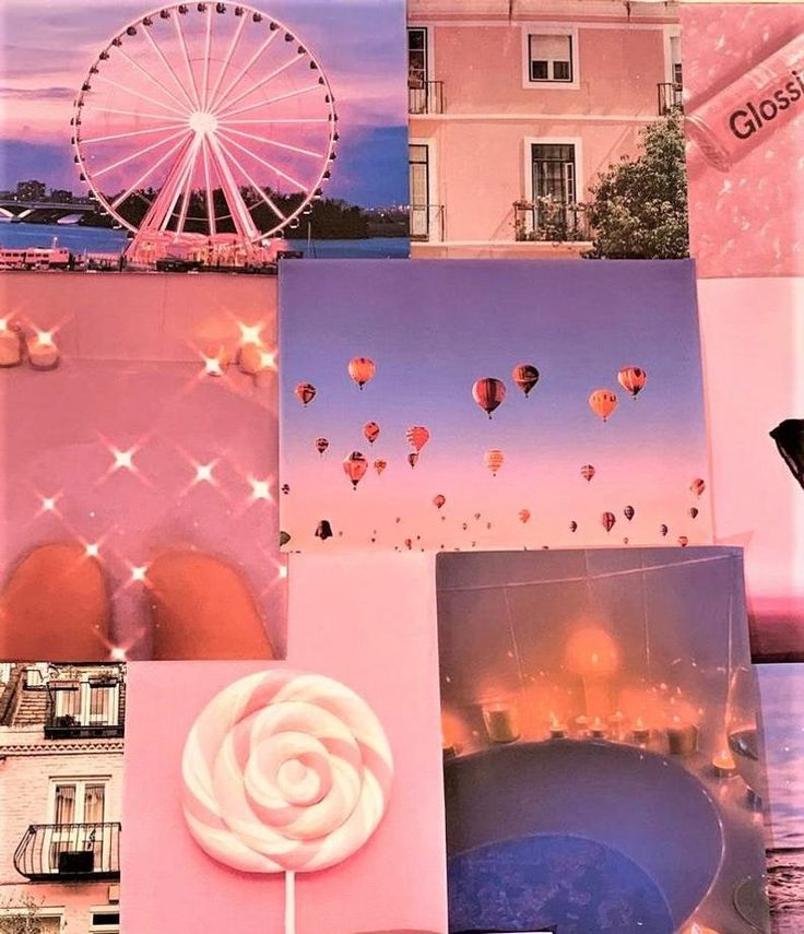 pink aesthetic pretty retro wall collage kit vsco vintage on wall pictures id=89099