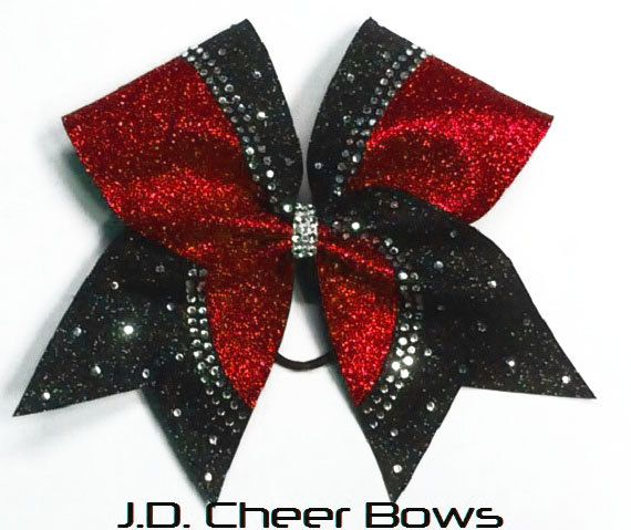 Reagan Rhinestone/Glitter Cheer Bow your choice by JDCheerBows