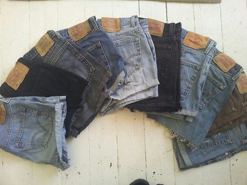more vintage levis shorts in today! range of sizes and colours, £18 each