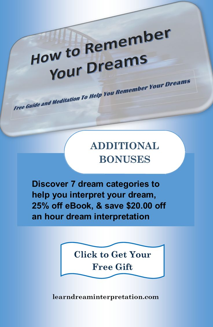 Remember your dreams & 7 dream categories to help with dream interpretation   https://learndreaminterpretation.com/free-gift/