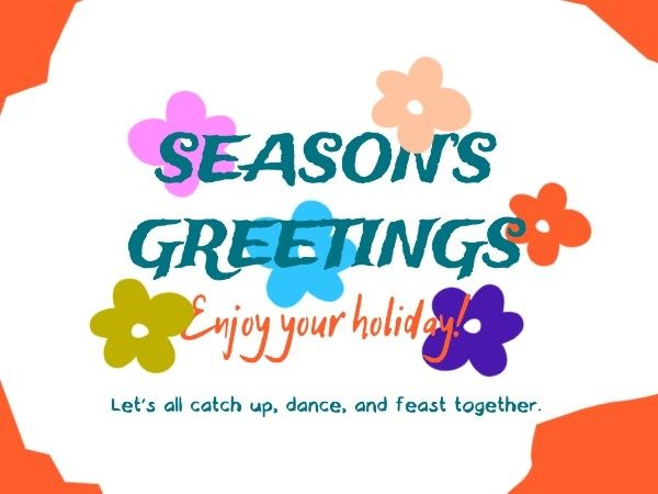 Try This Cute Lovely Greetingcard Template On Fotor To Create Digital Card And Send Your Best Wishe Seasons Greetings Card Seasons Greetings Card Template