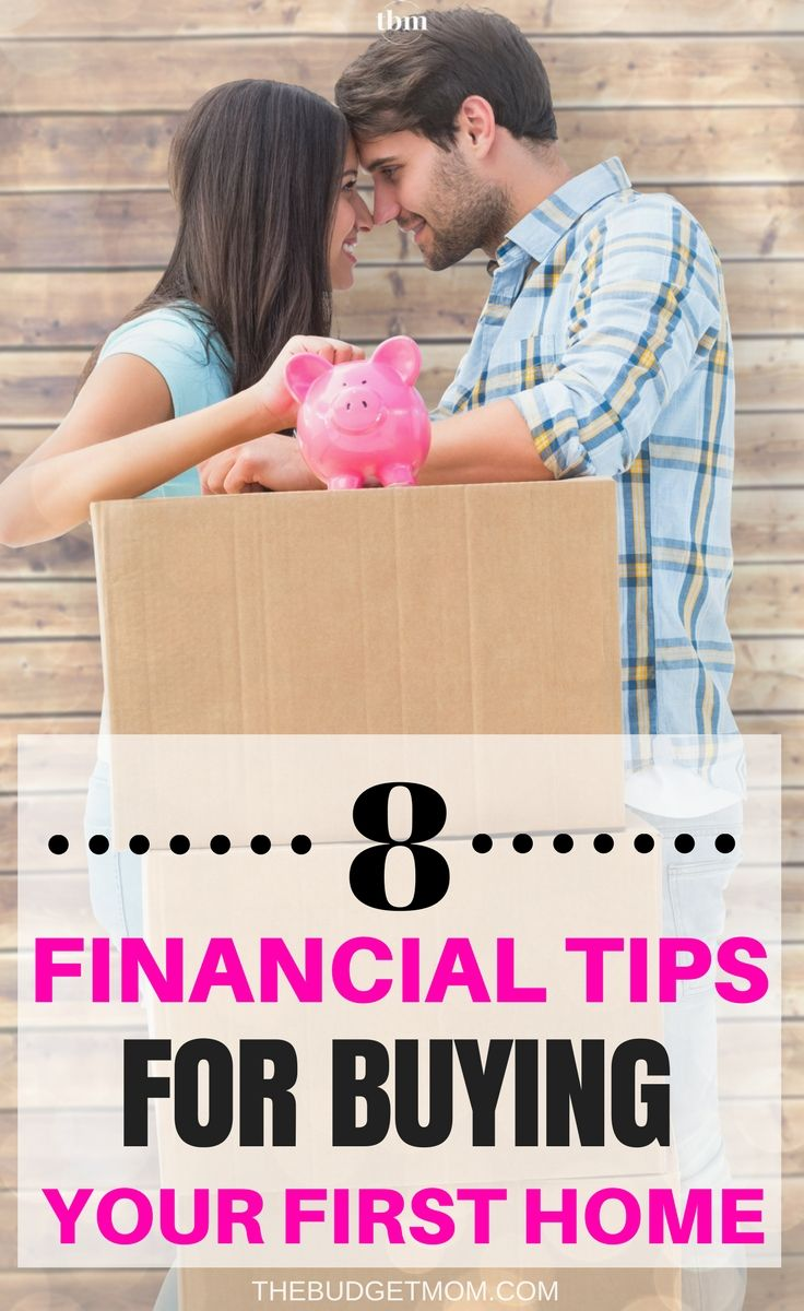Buying your first home can be exciting. Make sure your finances can handle it by following these eight tips when purchasing your first home. Tips | First Home | Finance | Budget via @The Budget Mom | Budget Tips, Save Money, Get out of Debt and More!
