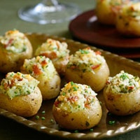 Tiny Twice-Baked Potatoes. These look like so much fun and not too hard to make. Guests would be so impressed!