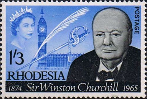 Rhodesia 1966 Churchill Fine Mint SG 357 Scott 206 Other Rhodesia Stamps For Sale HERE