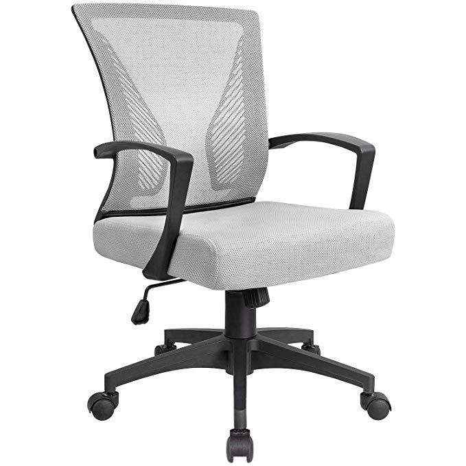 Kaimeng Mid Back Office Chair Ergonomic Computer Chair Desk Chair