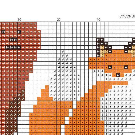 PATTERN Forest Animals cross stitch pattern, Modern