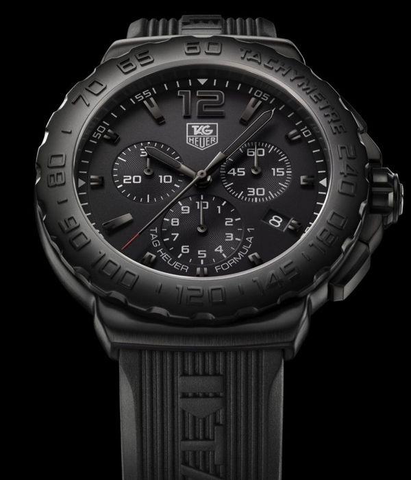 Tag HeuerTag Heuer, All Black, Luxury Watches, Formula 1, Heuer Formula, Matte Black, Watches Brand, Tags Heuer, Men Watches
