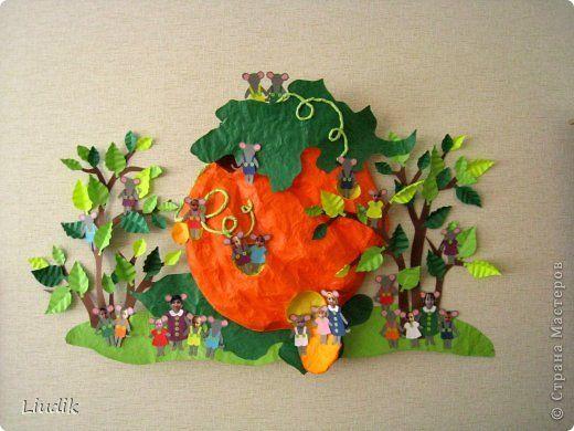 Делали с детьми 6 лет. Домик мой, человечков делали дети из бумаги, цветы - из гофрированной бумаги. Каждый этаж соответствует времени года. На желтом живут дети, у которых день рождения летом и т. д. фото 27