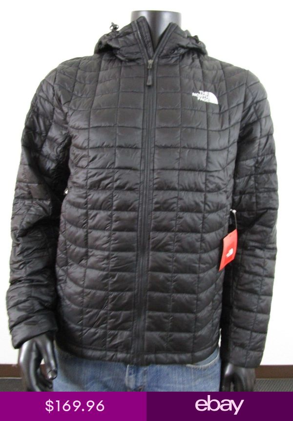 NWT Mens TNF The North Face Thermoball Hoodie Insulated Hooded Jacket -  Black  698f215d0