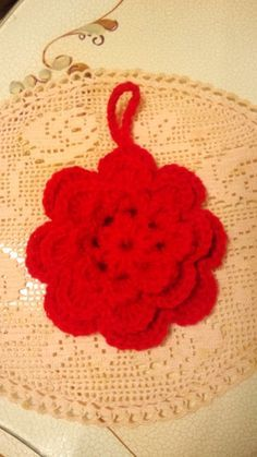 豪華3段重ねお花のアクリルたわしの作り方|編み物|編み物・手芸・ソーイング|作品カテゴリ|アトリエ