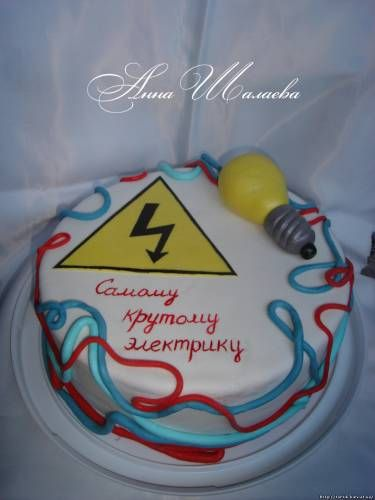 51 best Electrician Cakes images on Pinterest Anniversary cakes