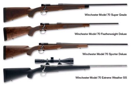 Winchester Model 70 - quality American weapons. Every caliber under the sun.
