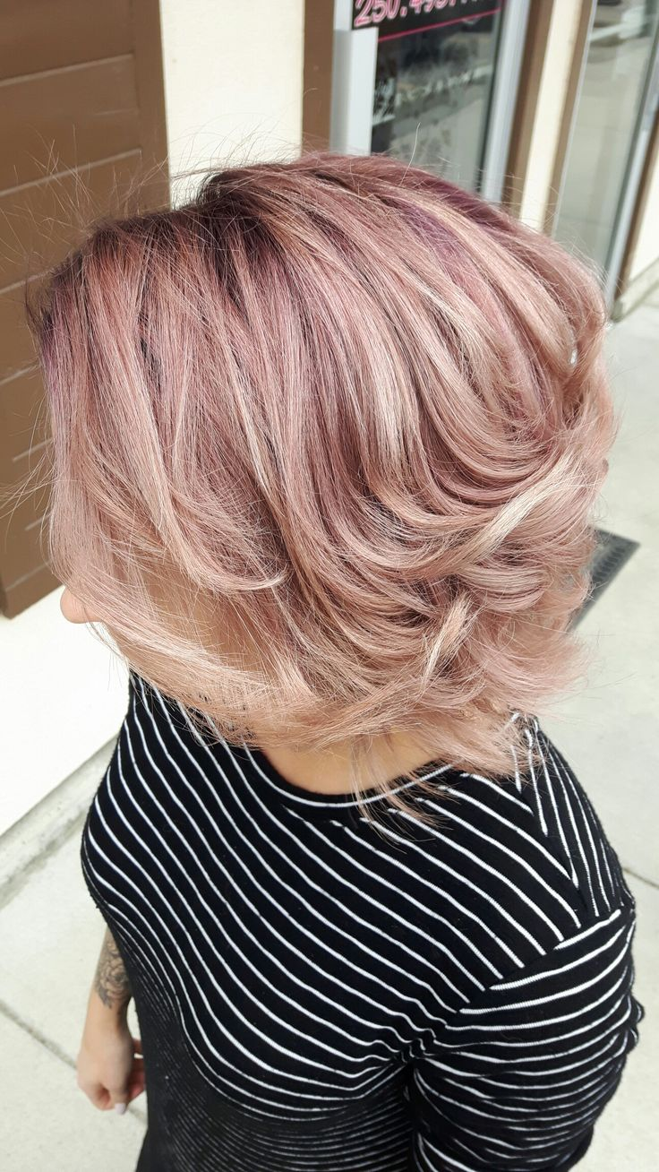 Rose gold hair fade