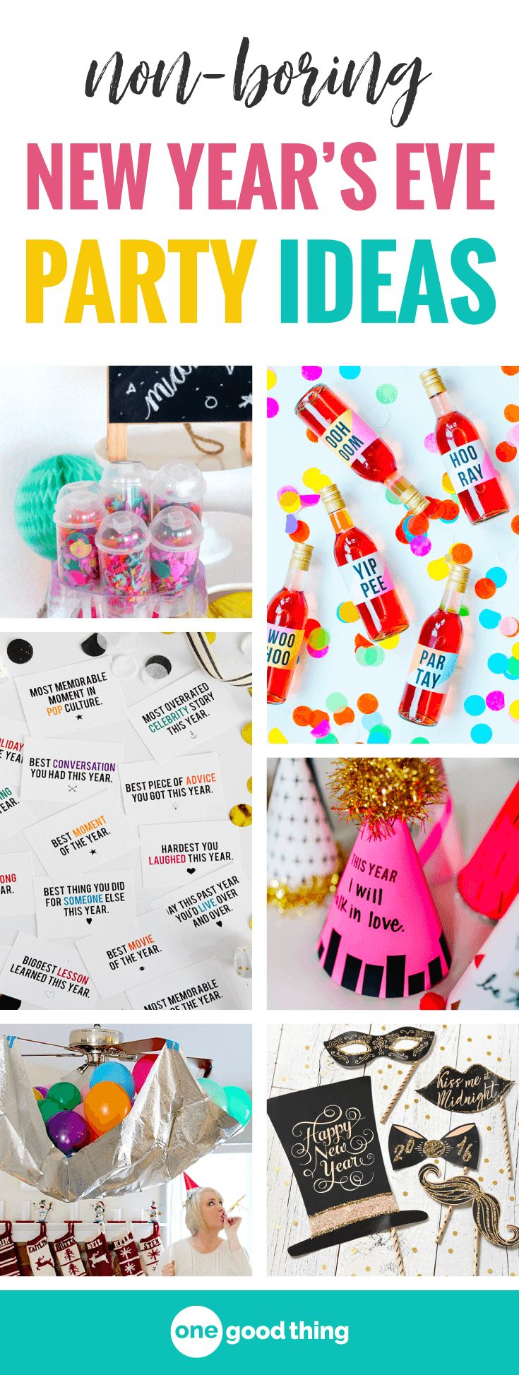 It's party time! Ringing in the New Year at home doesn't have to be boring...not by a long shot!Here are a bunch of fun and festive ideas tomake the evening special even though the surroundings are familiar.