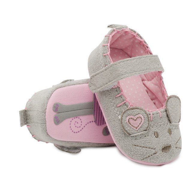 Newborn Baby Girl Soft Sole Crib Shoes Princess Anti-Slip Sneaker 0-18Months