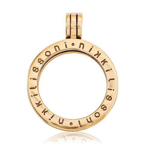 Nikki Lissoni Gold-tone Small Coin Holder Pendant