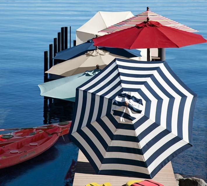 Umbrellas from Pottery Barn Shopping for a Freestanding Outdoor Umbrella