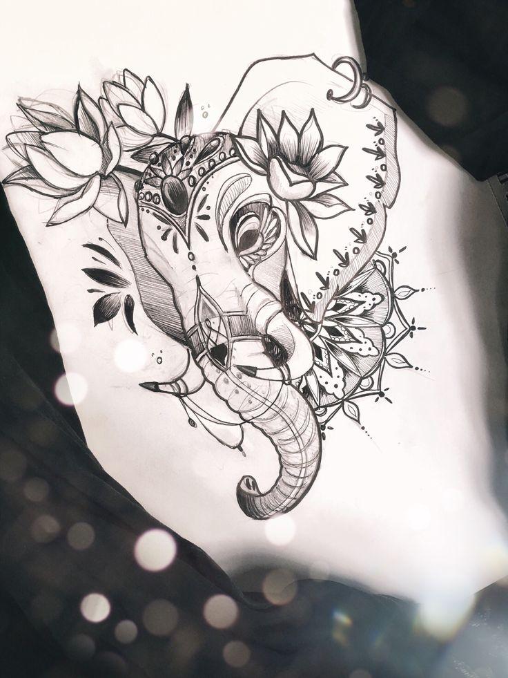 Tattoo by Maria Gromova / instagram grom_ink Эскиз