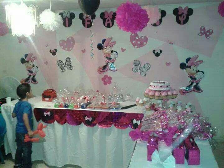 Decoración fiesta minnie mouse