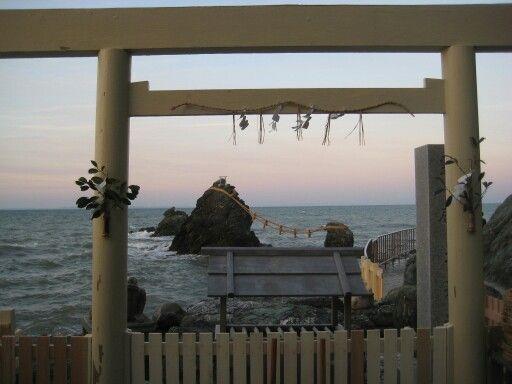 Torii gate of meotoiwa @ise