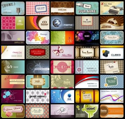 pattern card background vector