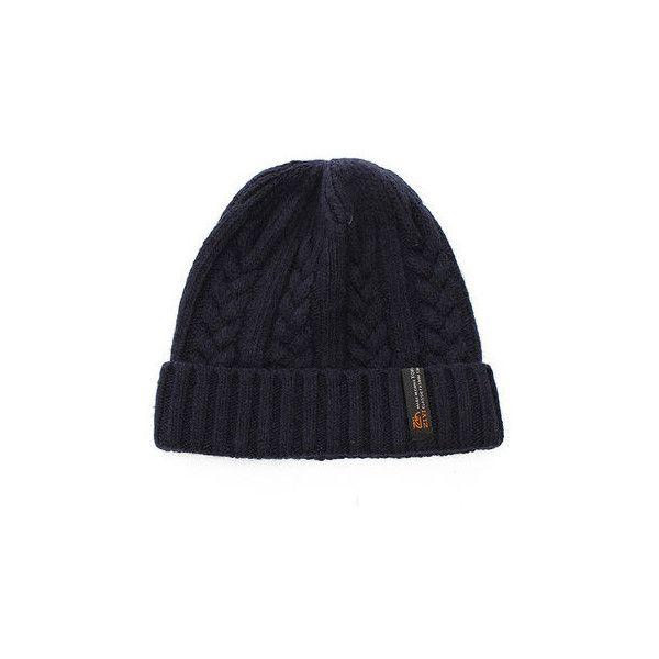 s Boy Crochet Braided Knit Warm Beanie Wool Cuff Hat Ski Cap ($8.92) ❤ liked on Polyvore featuring men's fashion, men's accessories, men's hats, navy, mens knit hats, mens caps, mens knit beanie hats, mens wool beanie and mens wool hats