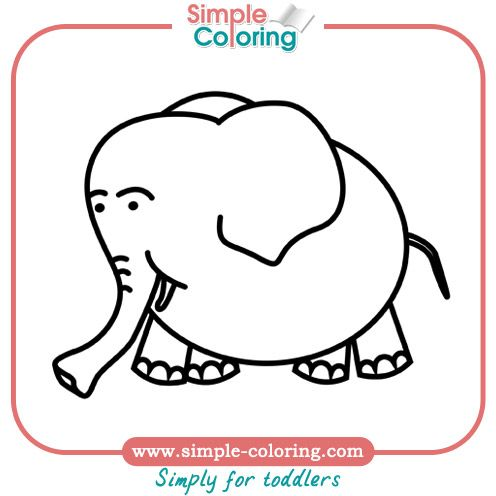 Simple coloring pages for toddlers