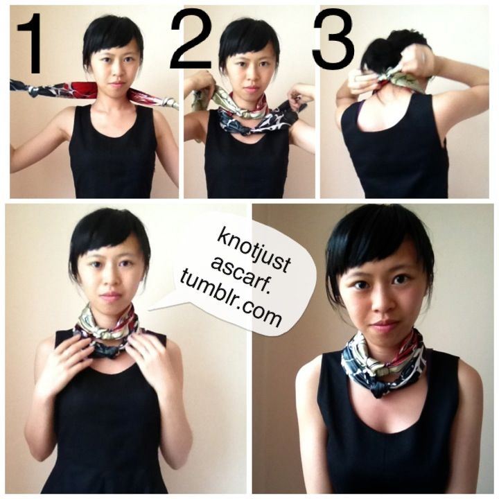 KNOT JUST A SCARF Tutorial #5: Double Knot Choker.