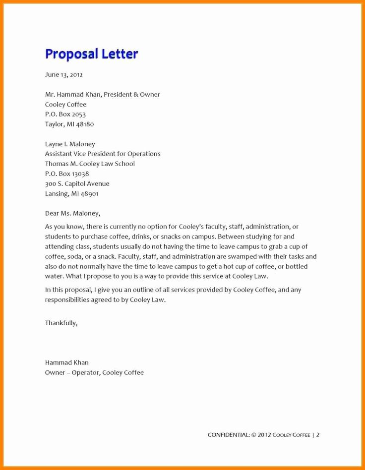 20++ Proposal cover letter format ideas