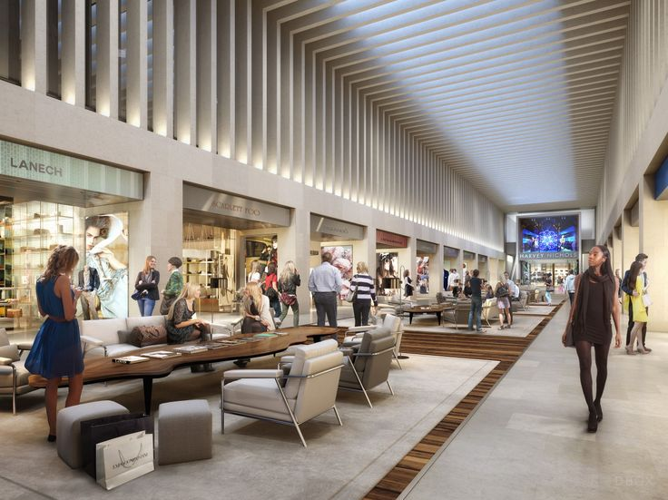 The lounge area of The Mailbox in BirminghamDBOX 2014 Retail